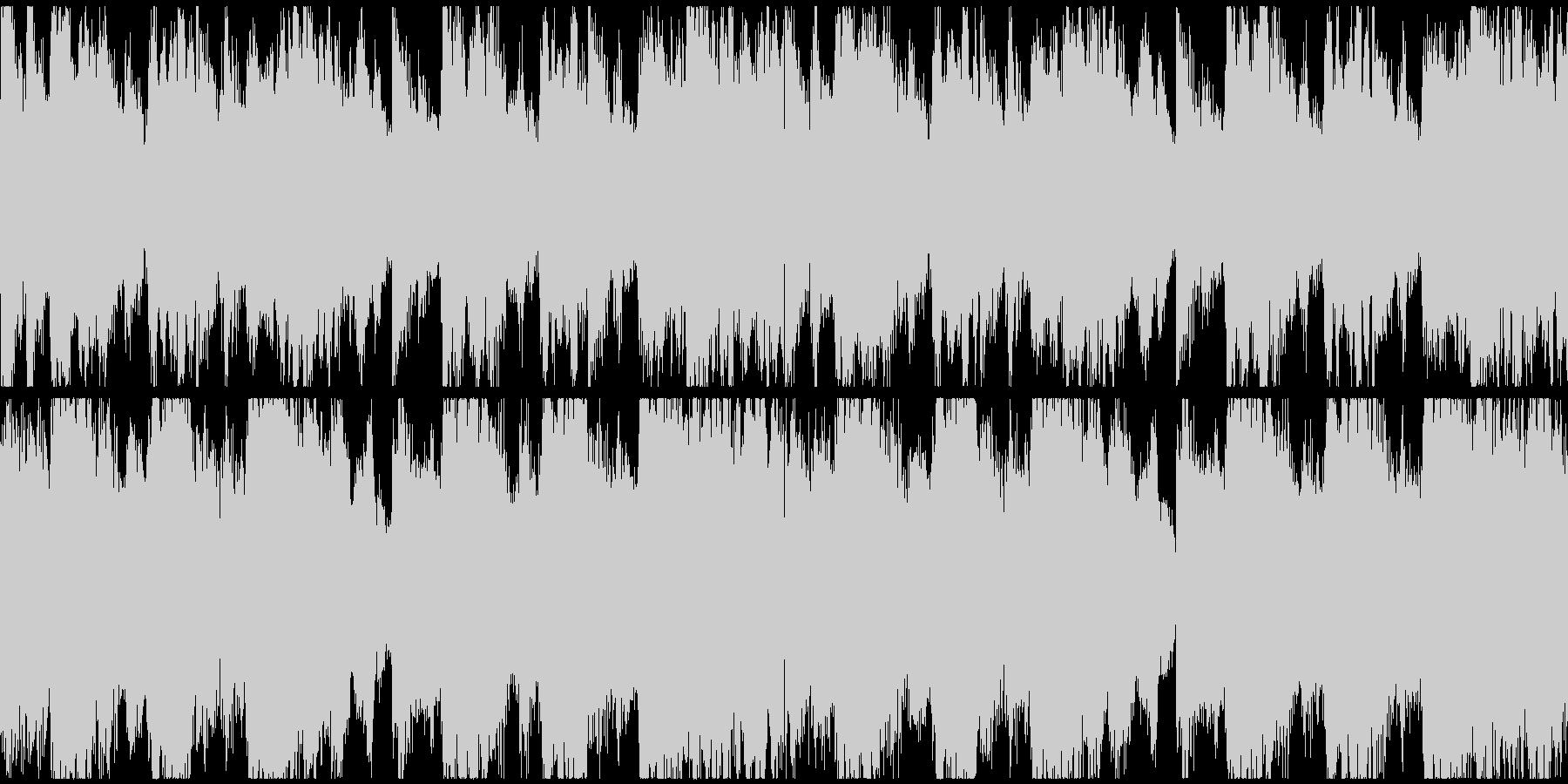 恐怖をイメージしたBGM(ループ)の未再生の波形