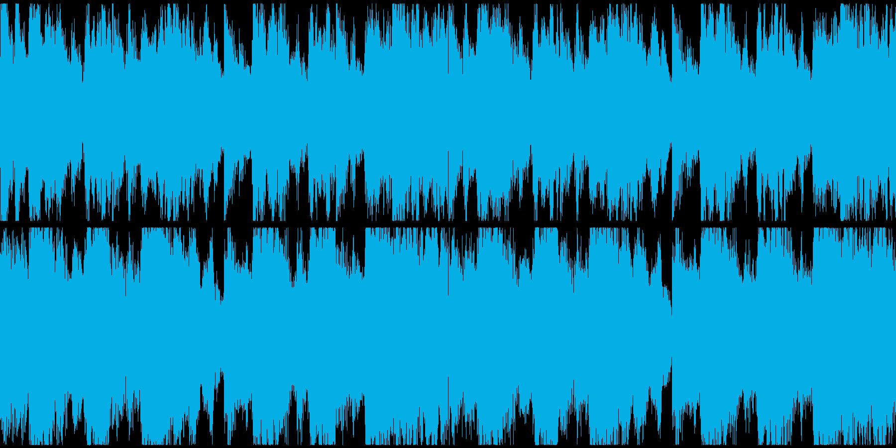 恐怖をイメージしたBGM(ループ)の再生済みの波形