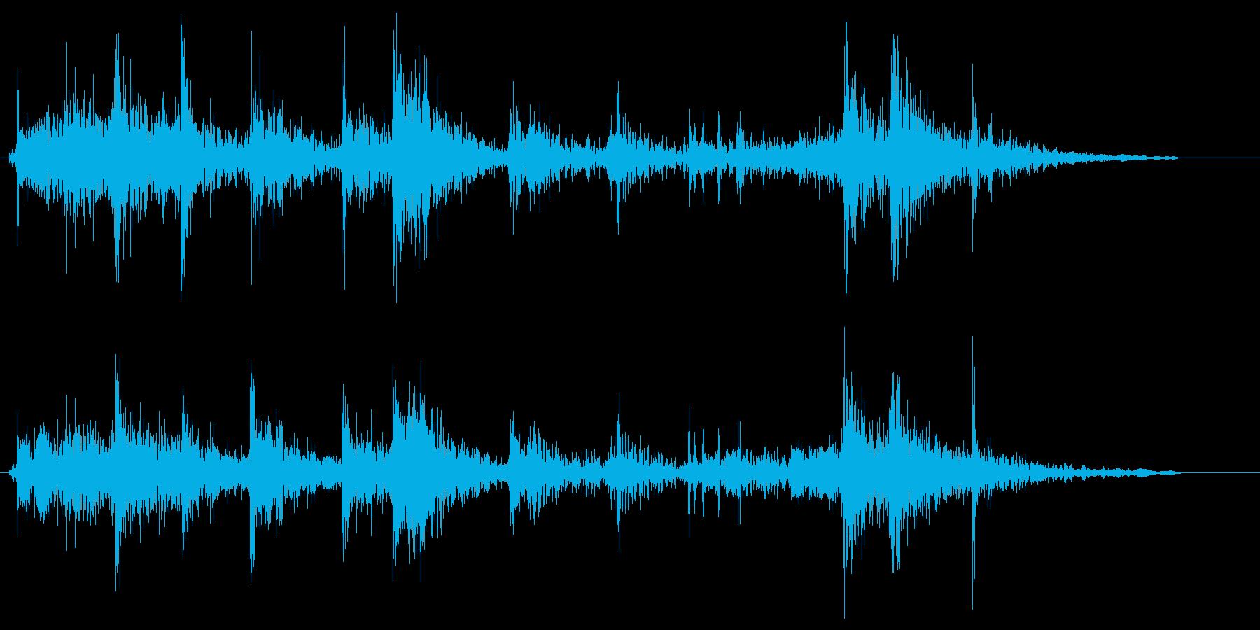引き戸を閉める音(ショート)の再生済みの波形