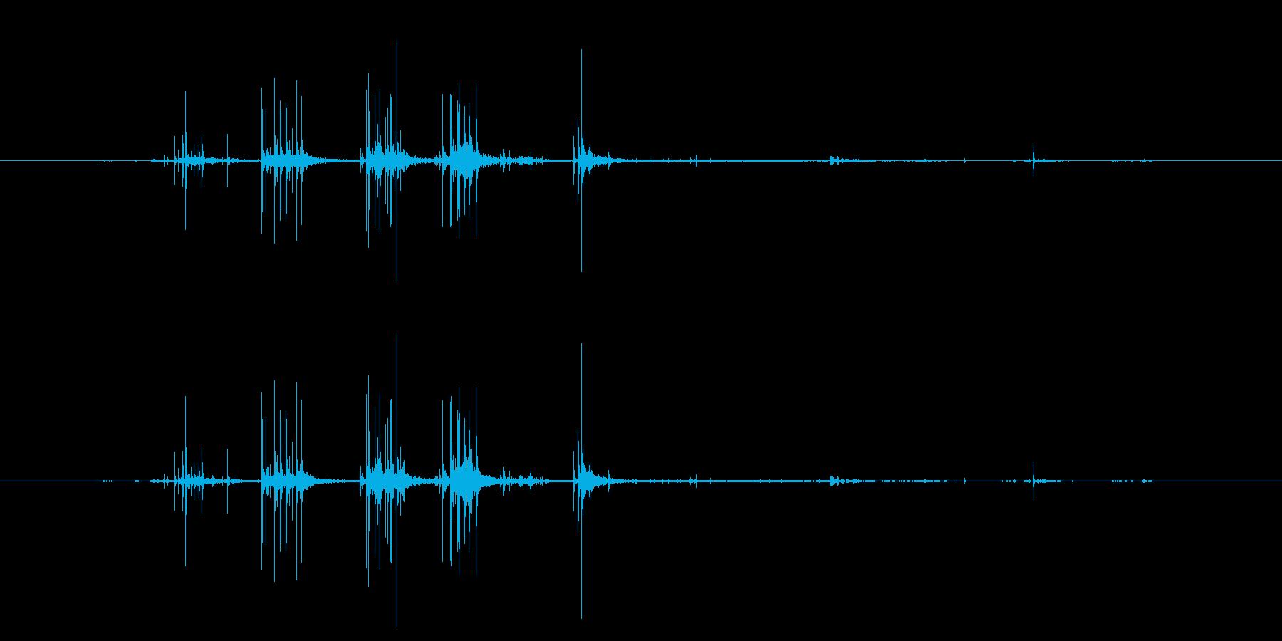 ビリビリ 布をさく音 破る音の再生済みの波形