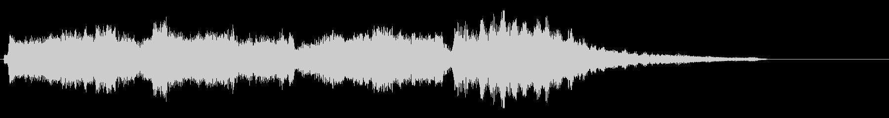 弦楽四重奏によるクラシカルなサウンドロゴの未再生の波形