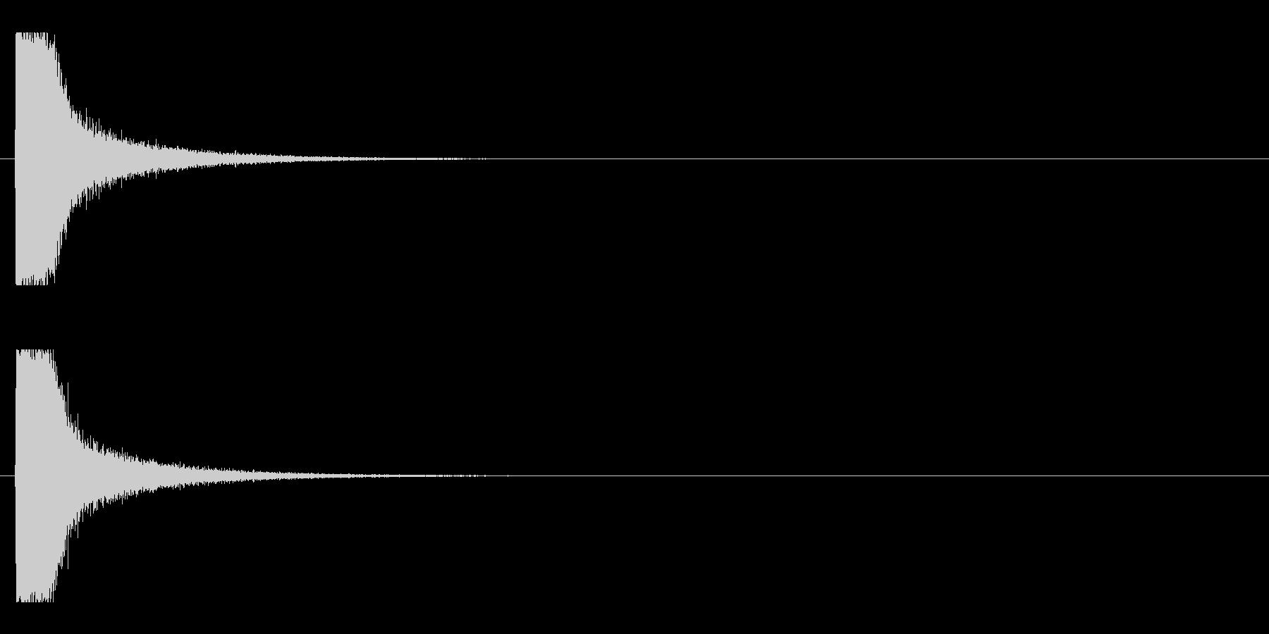 レーザー音-120-1の未再生の波形