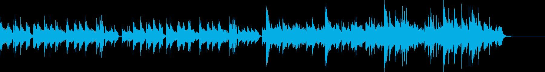 古いピアノが奏でるジングルの再生済みの波形