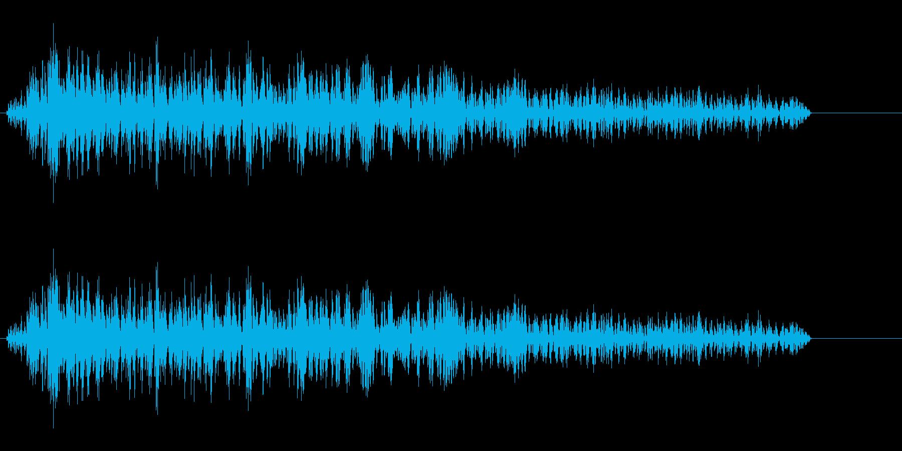 ゾンビの叫び声(ウオー)の再生済みの波形
