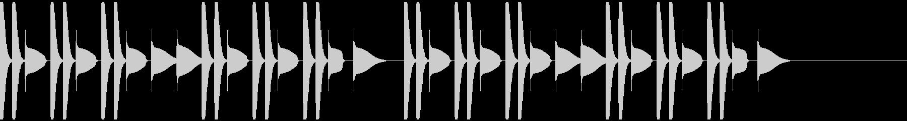 ポコポコ電子ドラム音の未再生の波形
