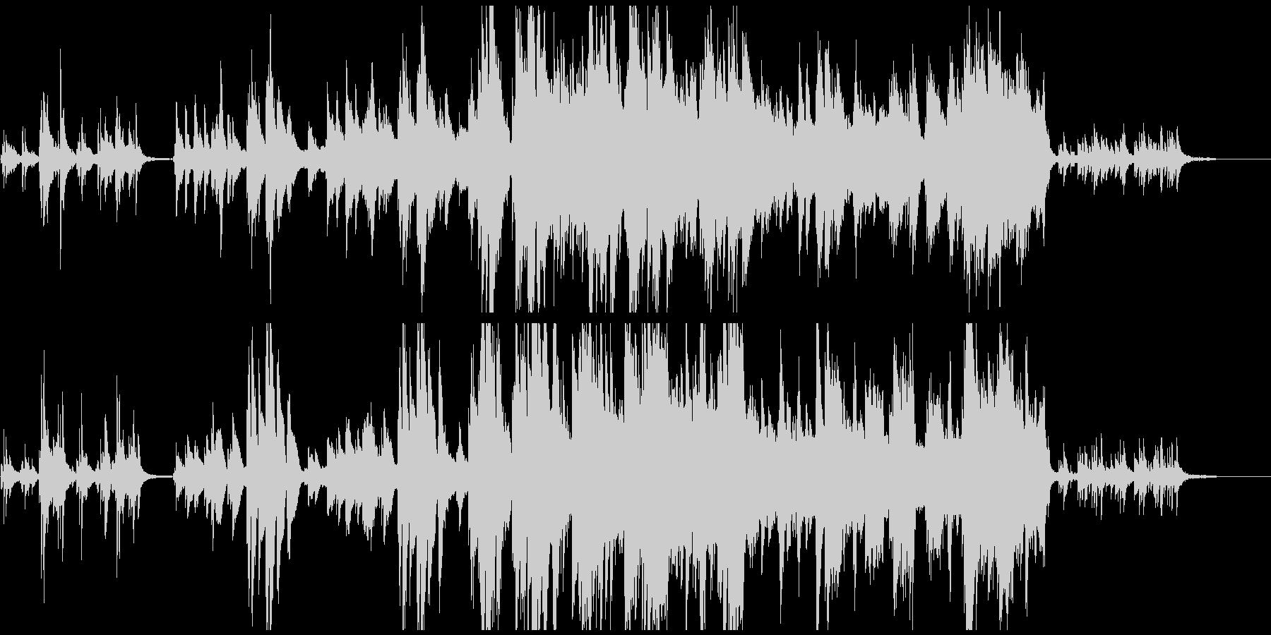 感動的な場面を演出するピアノ主体のBGMの未再生の波形