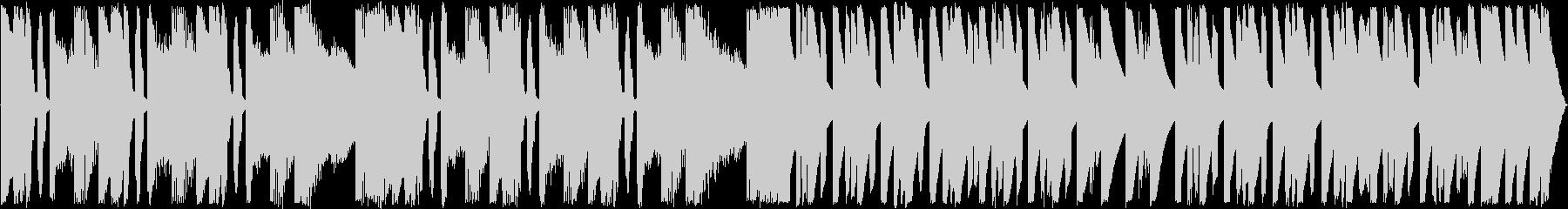 まぬけ・ギャグな雰囲気のダサいBGMの未再生の波形