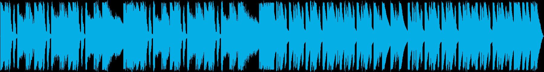 まぬけ・ギャグな雰囲気のダサいBGMの再生済みの波形