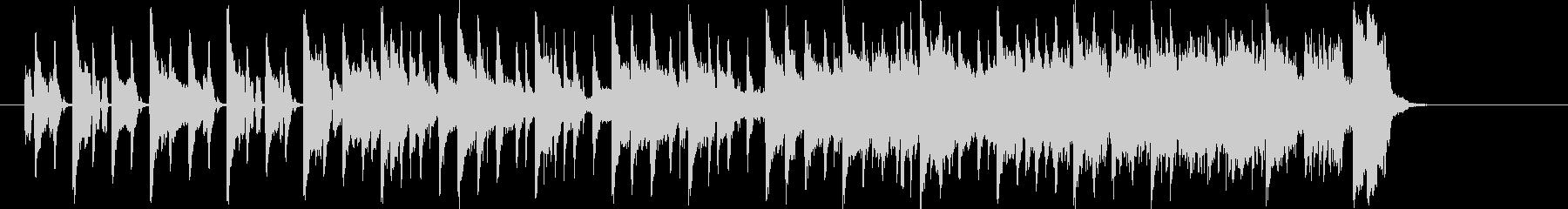 時間が迫っている時のジングル曲、BGMの未再生の波形