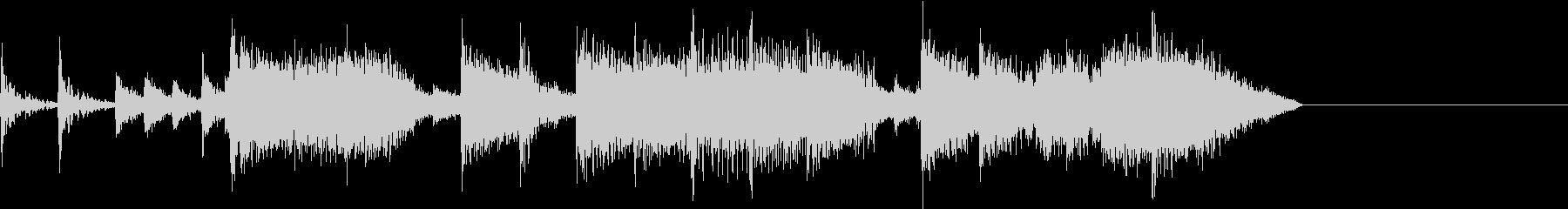 定番ロックサウンド調ジングルの未再生の波形