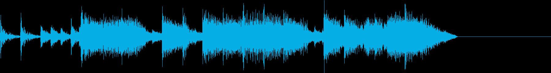 定番ロックサウンド調ジングルの再生済みの波形