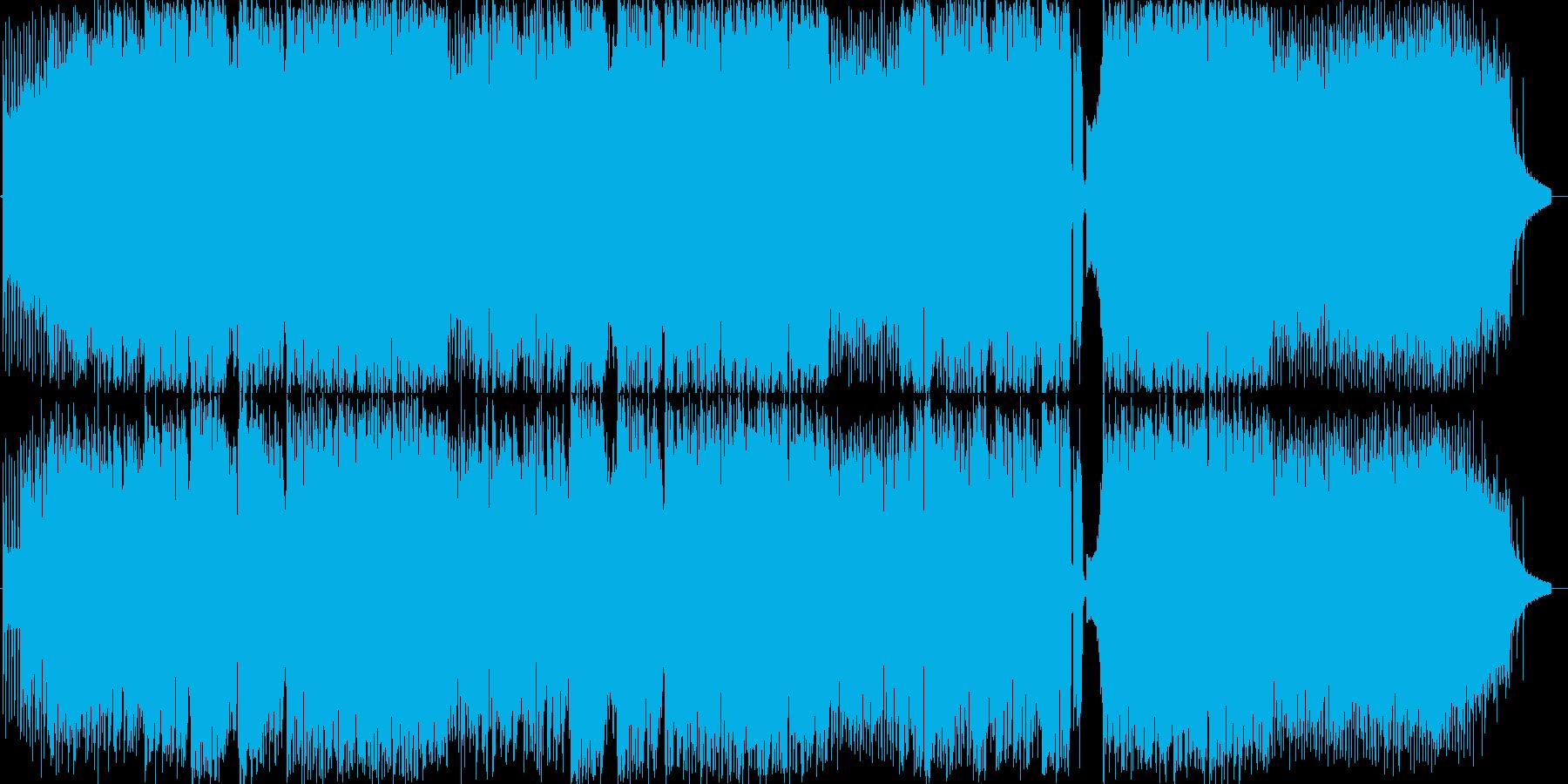軽快なポップスの再生済みの波形