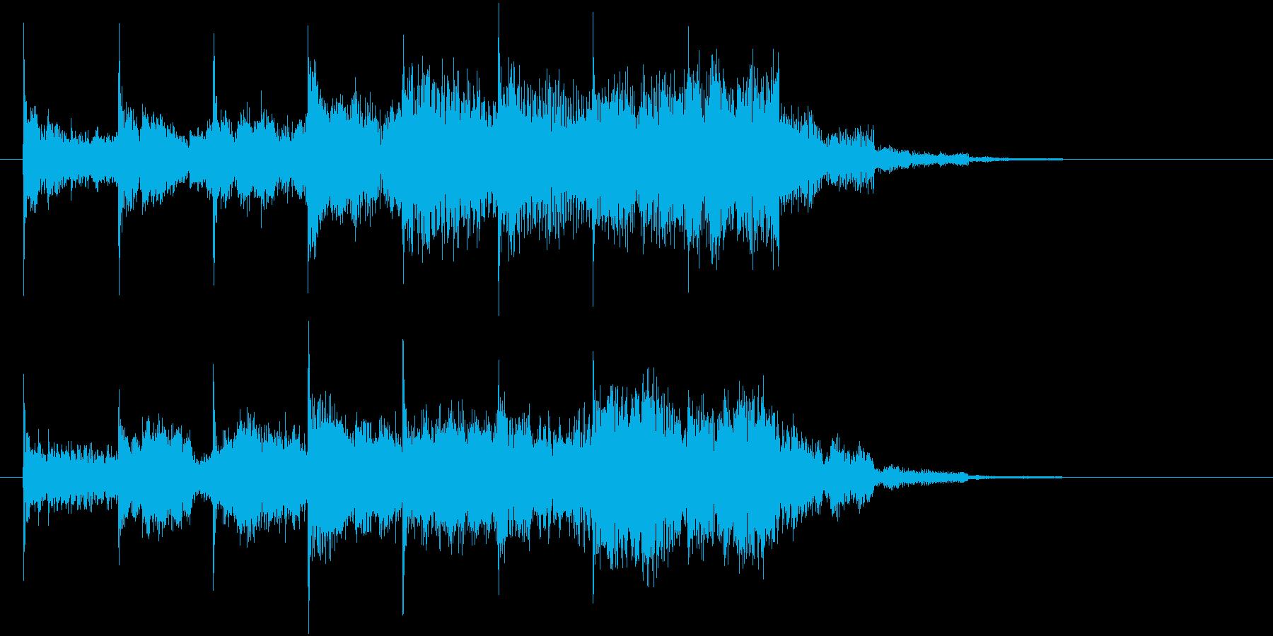 シンプルなジングルの再生済みの波形