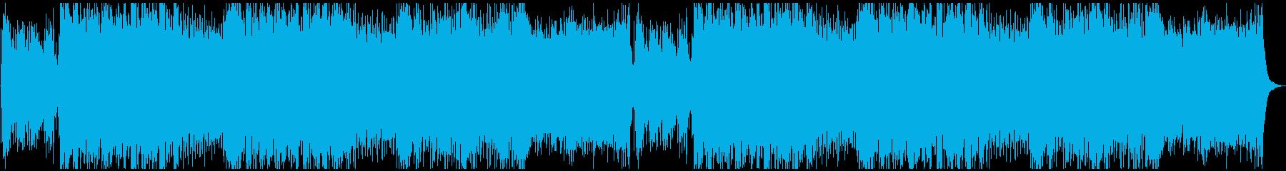 砂漠のエスニック曲の再生済みの波形