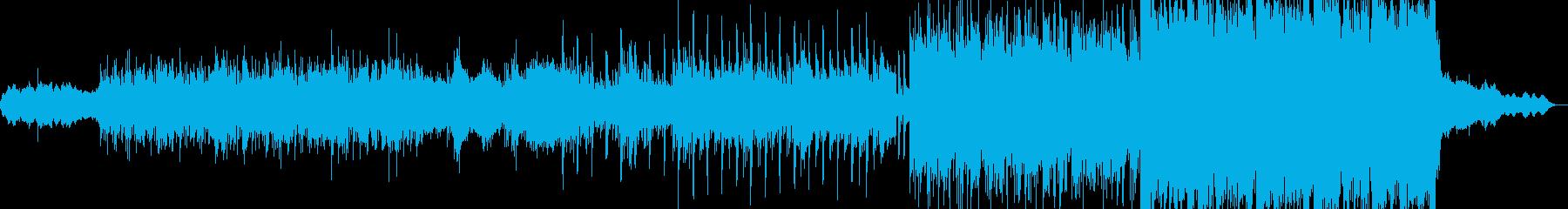 徐々に期待を盛り上げるオープニングBGMの再生済みの波形