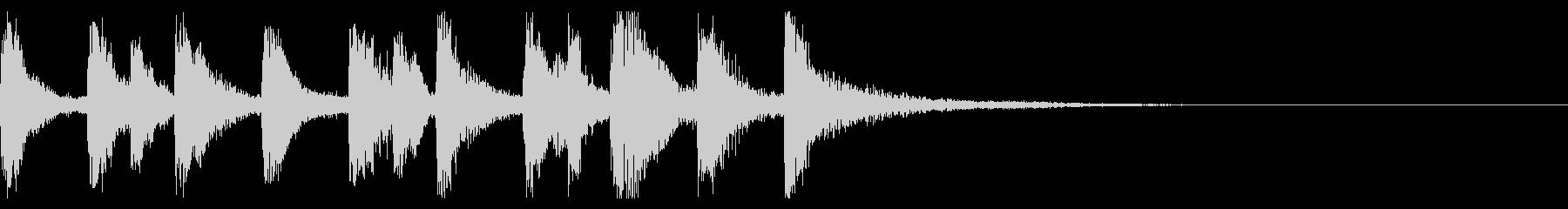 クラシカルなジングルの未再生の波形