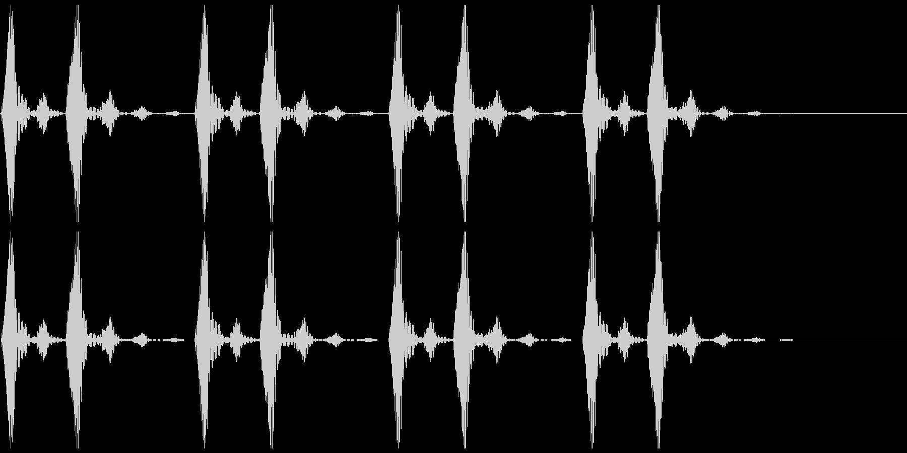 鼓動のイメージです。の未再生の波形
