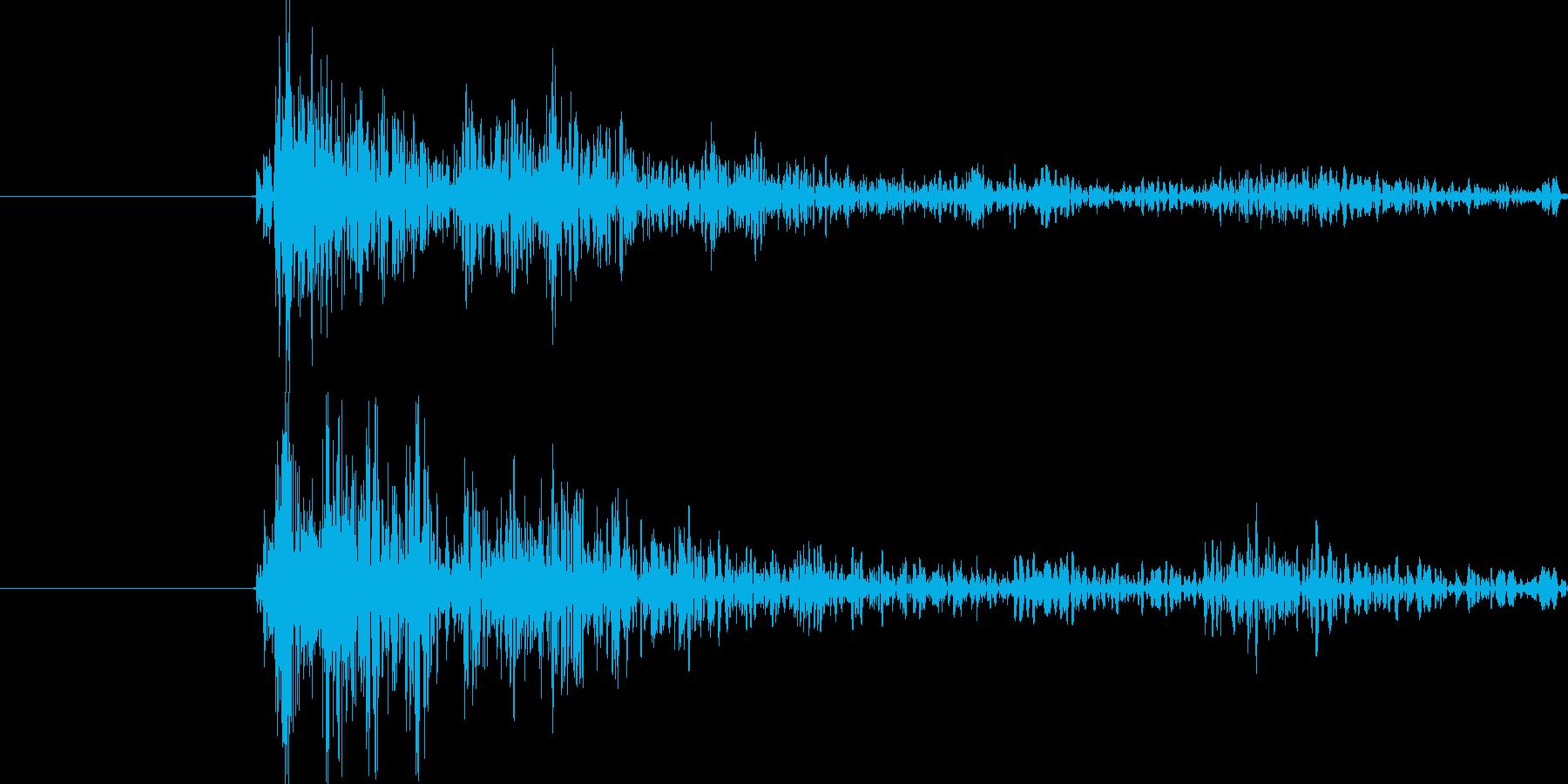がちゃ、という勢いのある打撃音です。の再生済みの波形