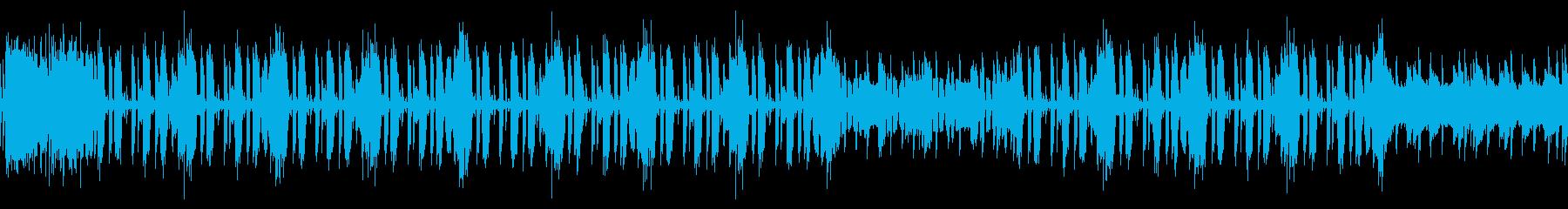 スリリングで疾走感のあるBGMの再生済みの波形
