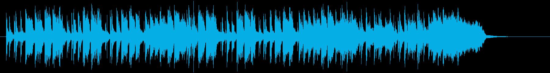 リズミカルでノリの良いポップスの再生済みの波形