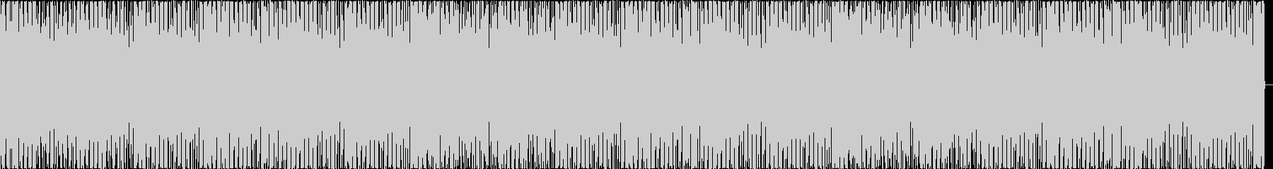 機械的で無機質なハウスダンスミュージックの未再生の波形