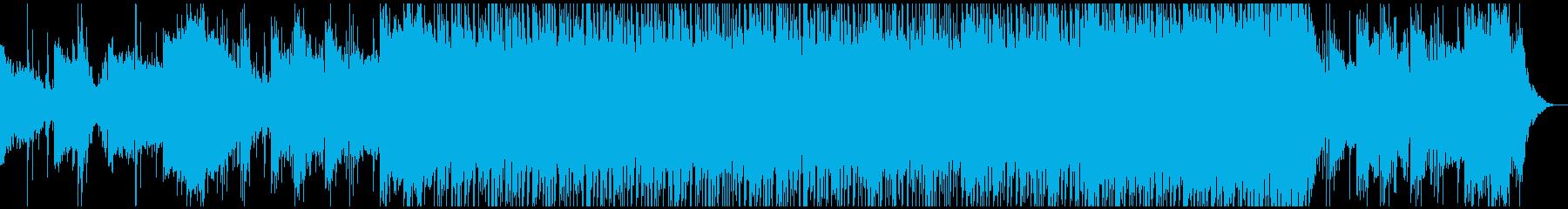 ド迫力な和風エピックBGMの再生済みの波形