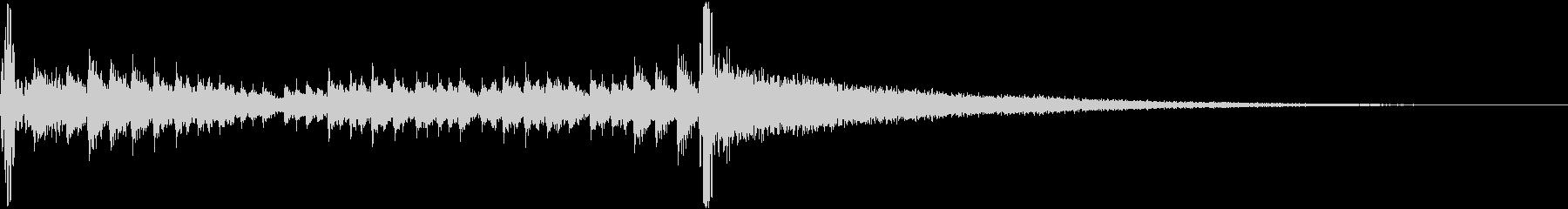 使いやすい一般的なドラムロール 2秒の未再生の波形