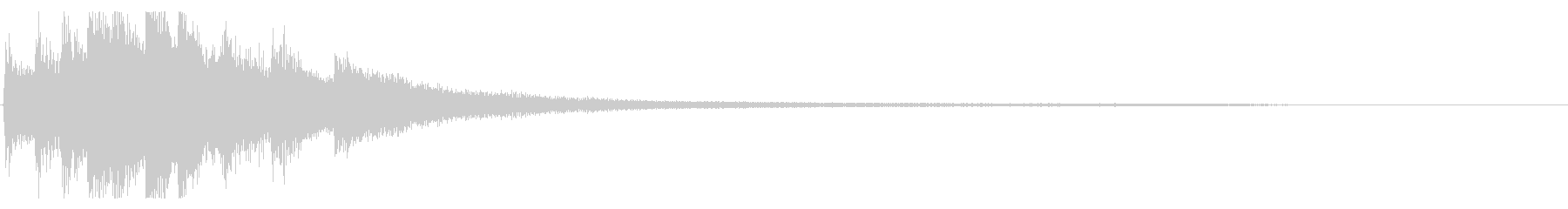 KANTジングルピアノ&ギター2の未再生の波形