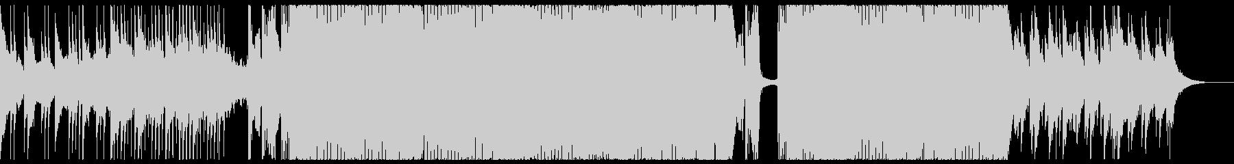 トランス系のアニソンを彷彿とさせる曲の未再生の波形
