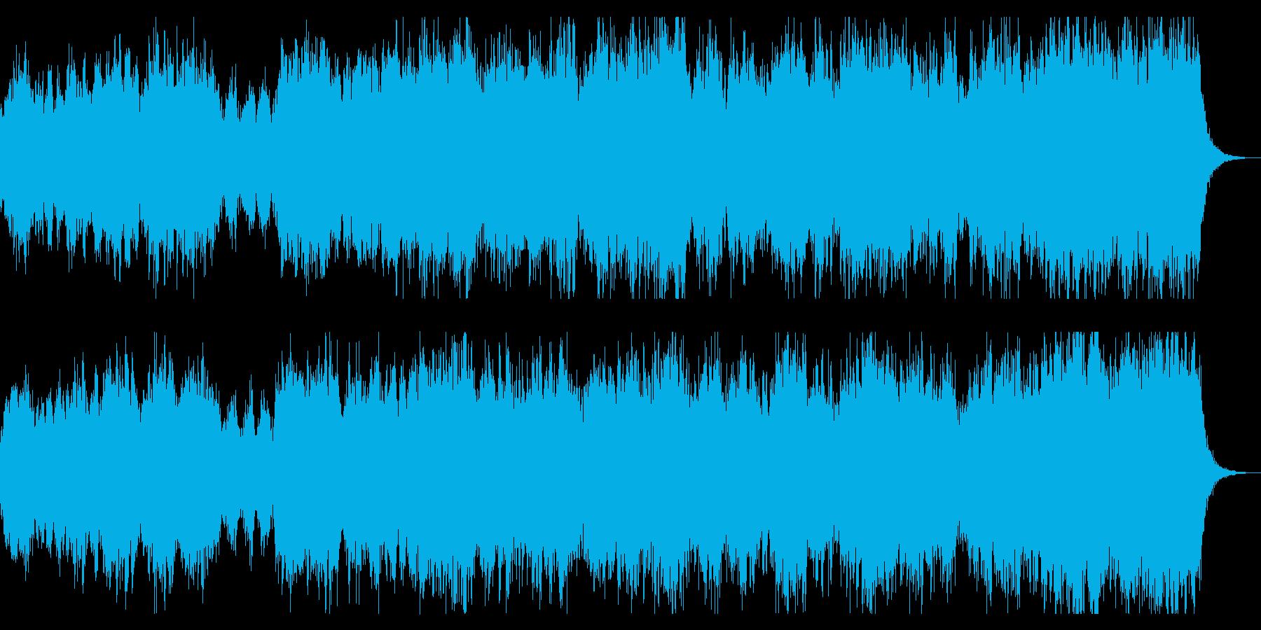 勇壮、シネマチックなファンタジー系BGMの再生済みの波形