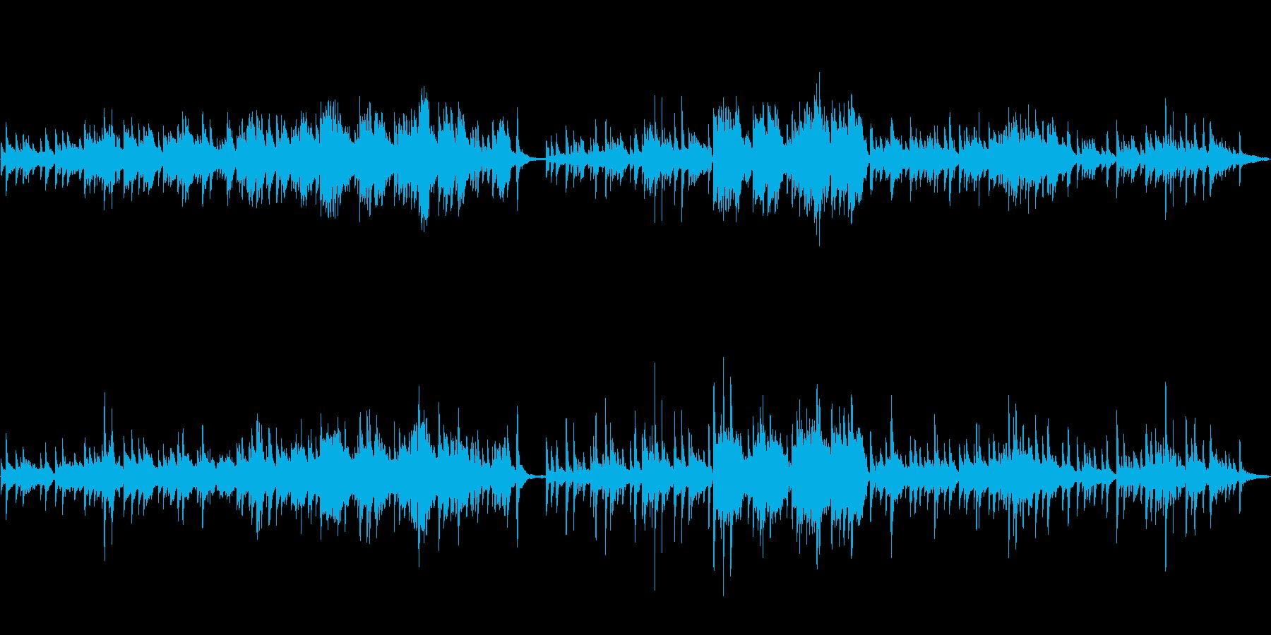 切ないメロディーが印象的なピアノの楽曲の再生済みの波形