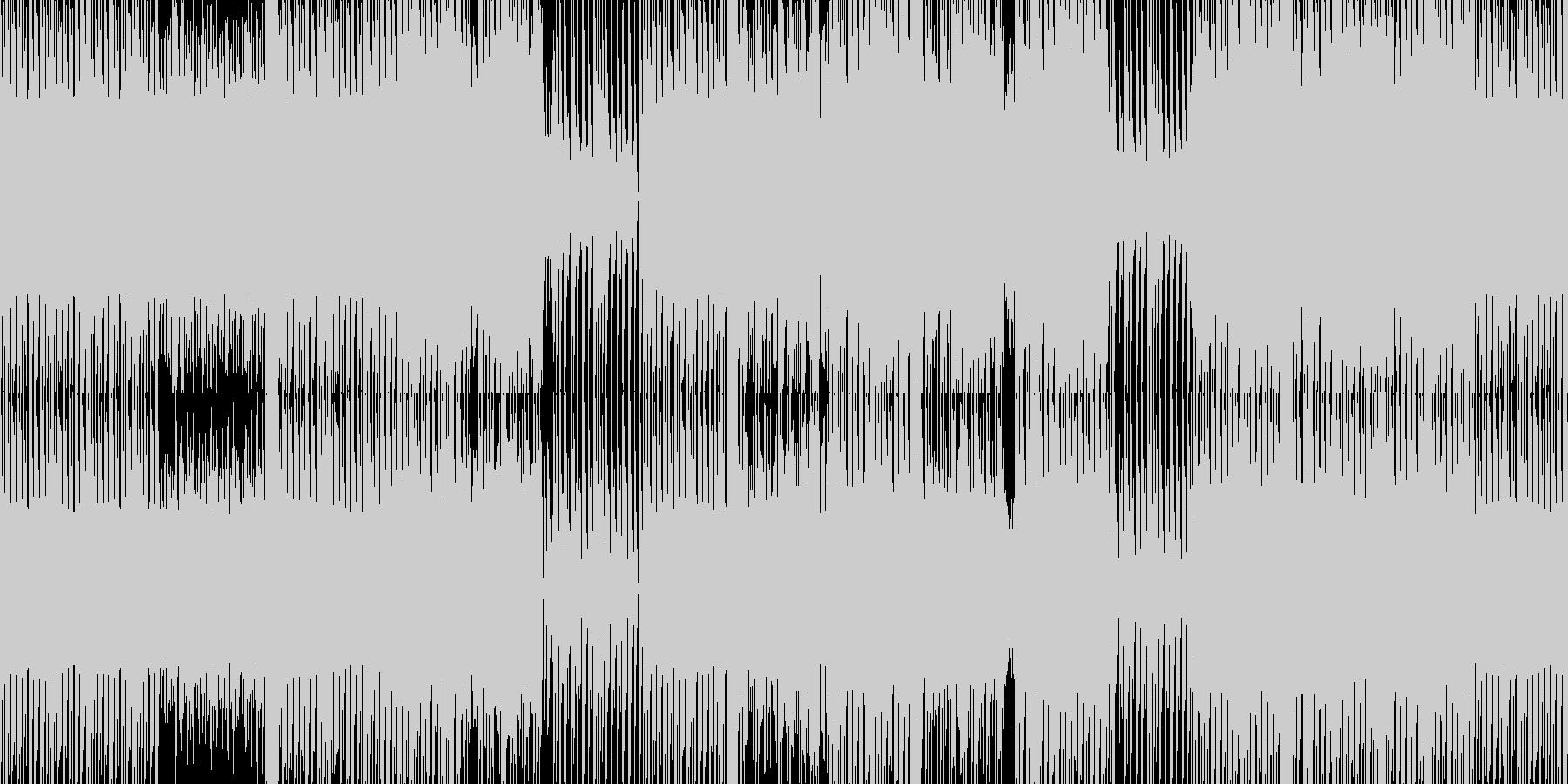 疾走感のある四つ打ちテクノの未再生の波形