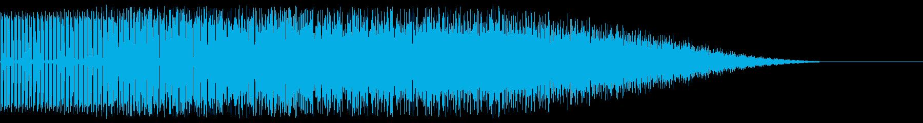ワープ音の再生済みの波形