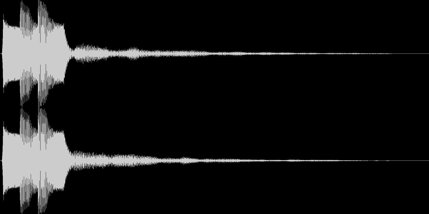 ピコ(ゲーム、アプリなどの操作音01)の未再生の波形