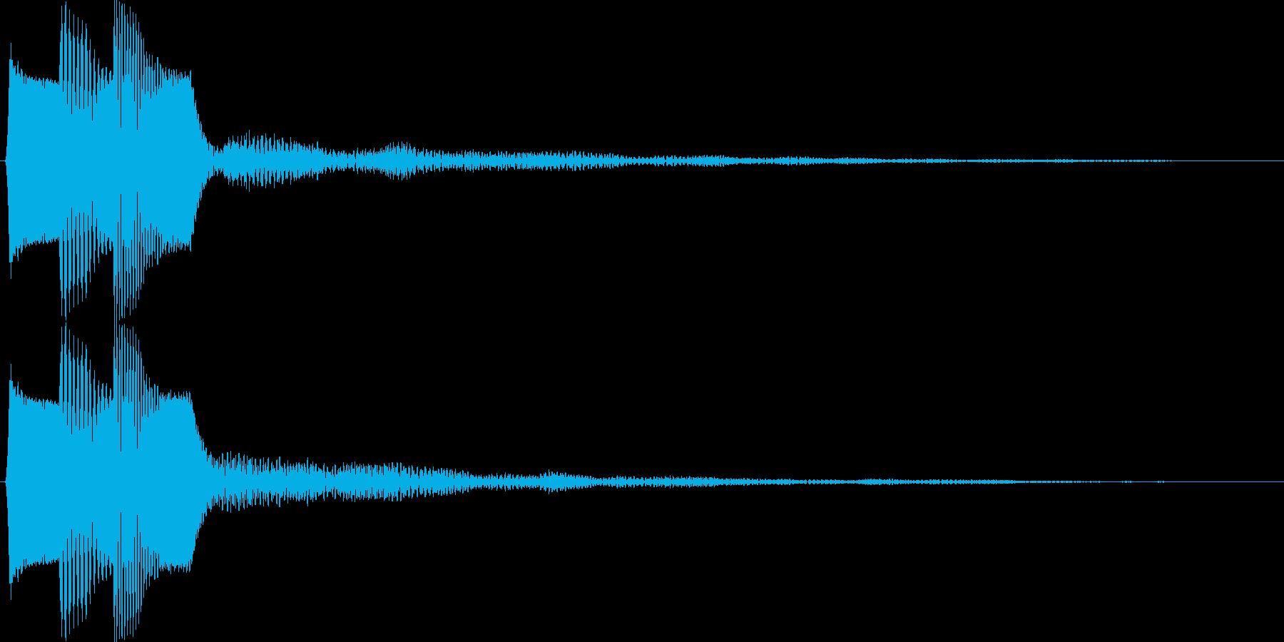 ピコ(ゲーム、アプリなどの操作音01)の再生済みの波形