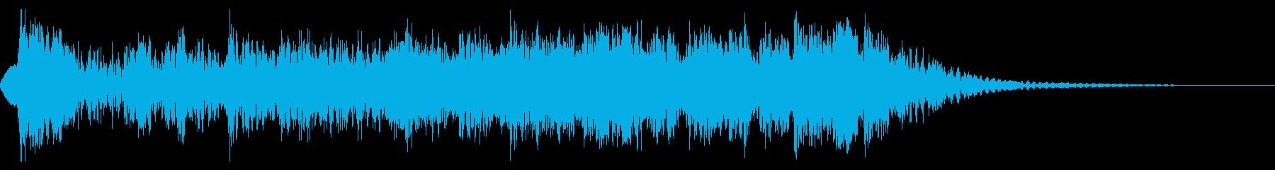 YouTube尺八による和風ジングル02の再生済みの波形