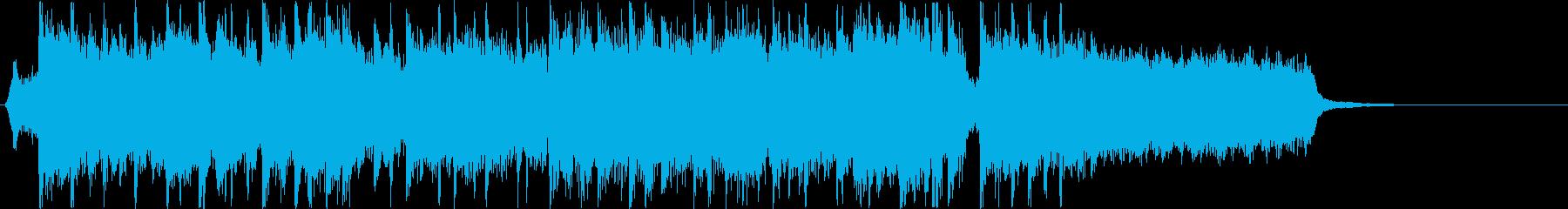 アイドルアニソンのイントロ風ジングルの再生済みの波形