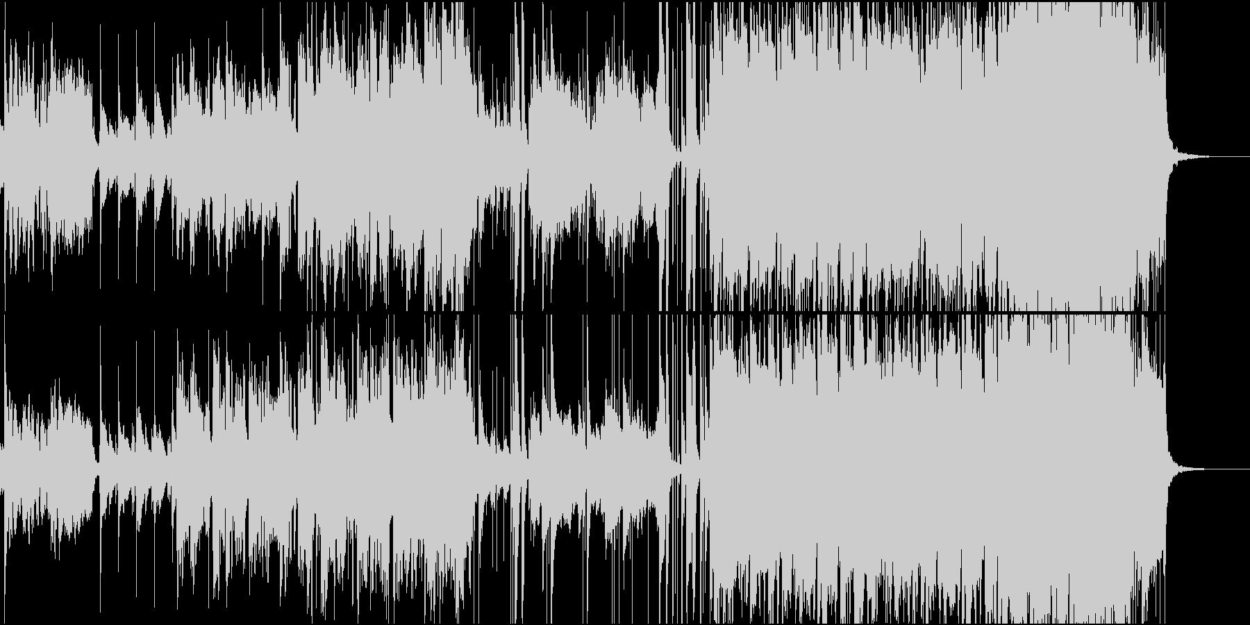 笛や弦楽器のエスニック風インストの未再生の波形