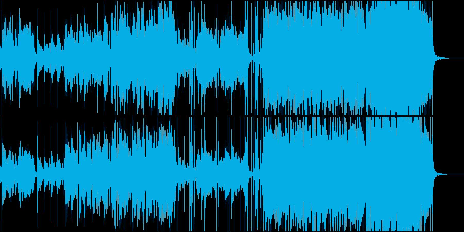笛や弦楽器のエスニック風インストの再生済みの波形