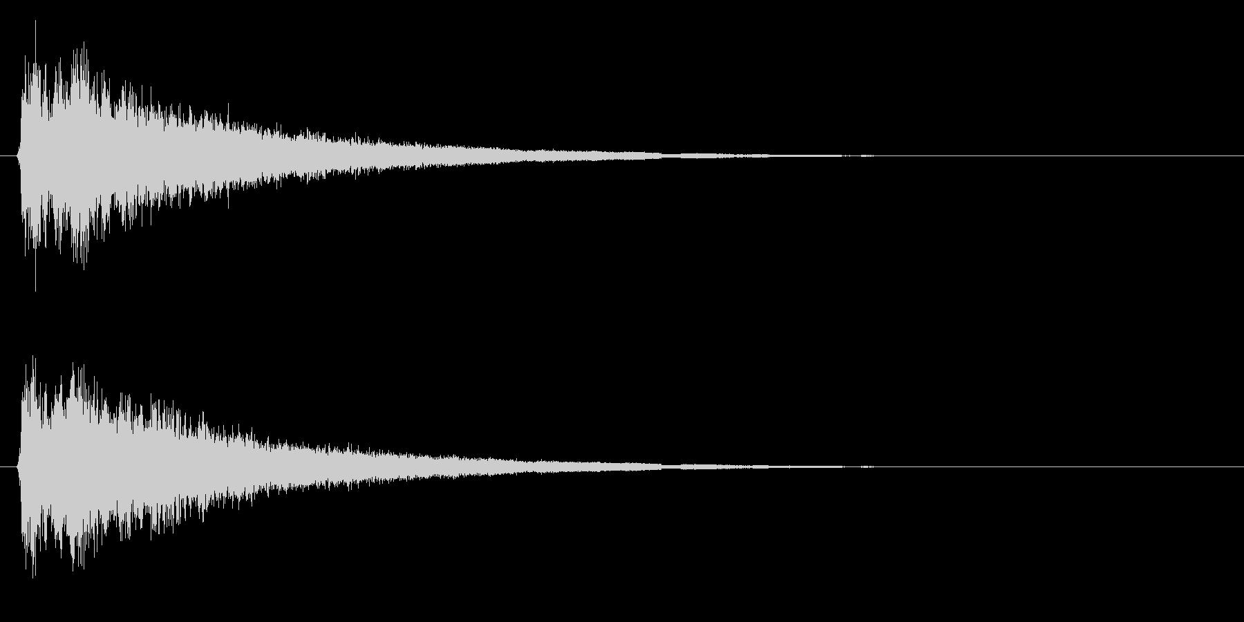 ピュルルル…↑(場面転換、上昇、回復)の未再生の波形