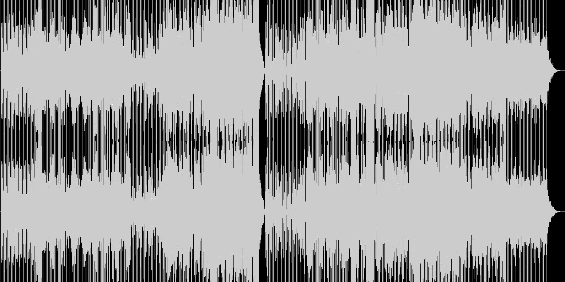 ダークな雰囲気のスタイリッシュなEDMの未再生の波形