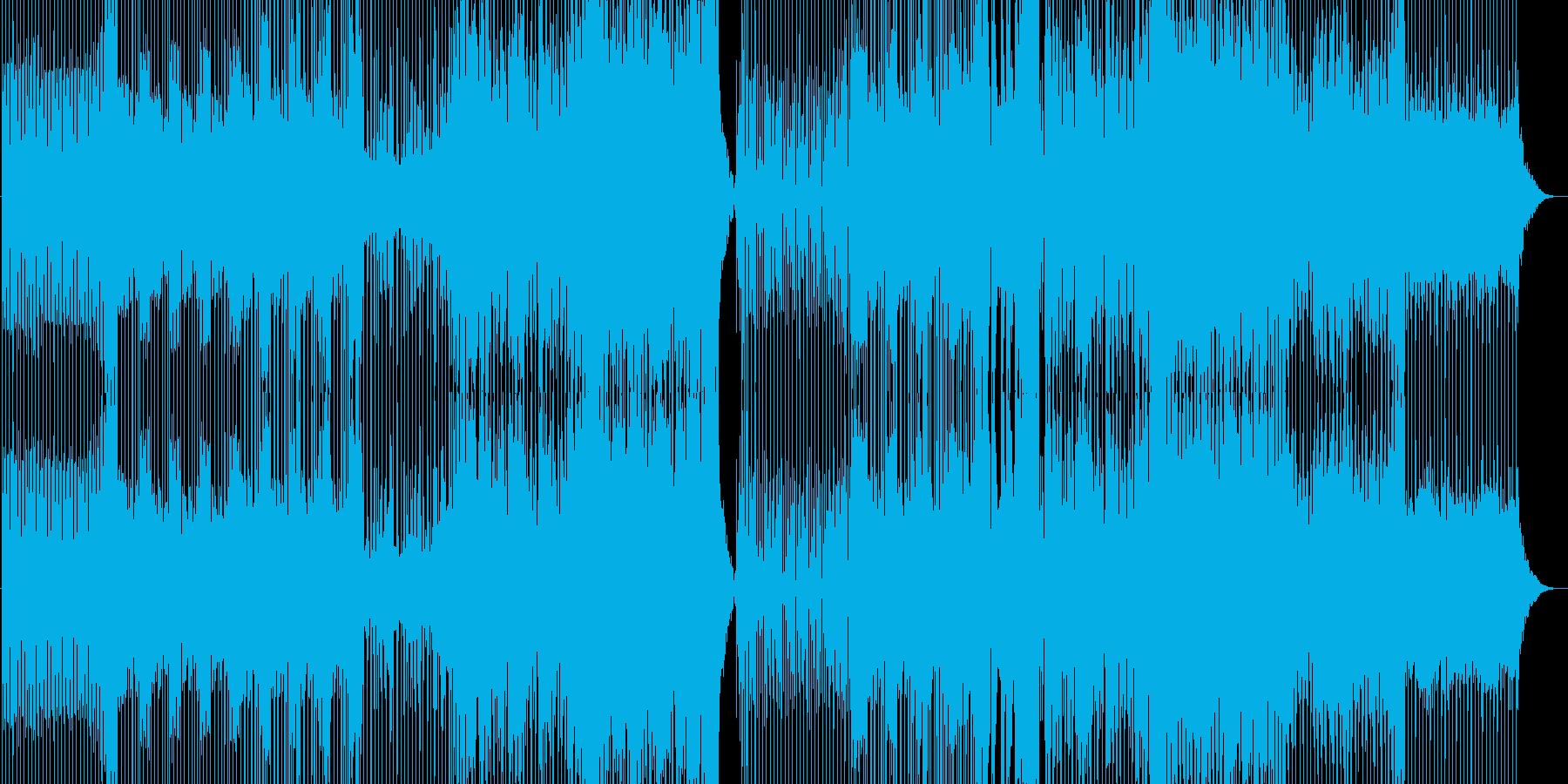 ダークな雰囲気のスタイリッシュなEDMの再生済みの波形