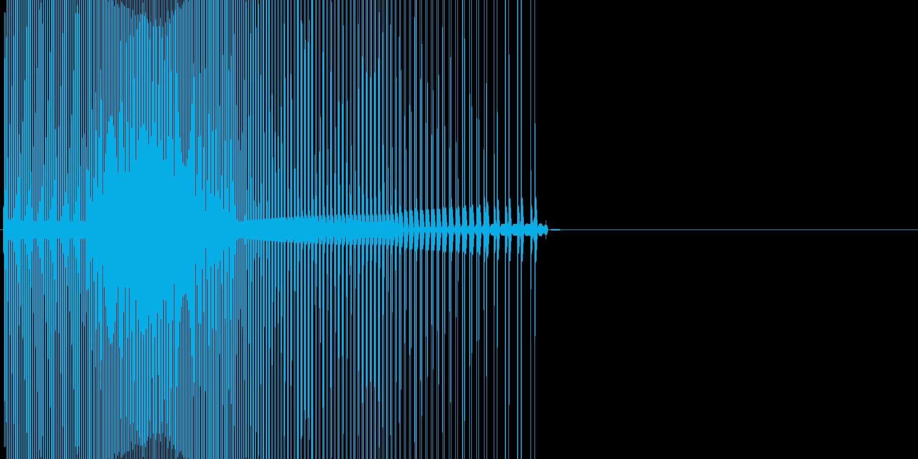 ボタン・キャンセル・操作音・決定音の再生済みの波形