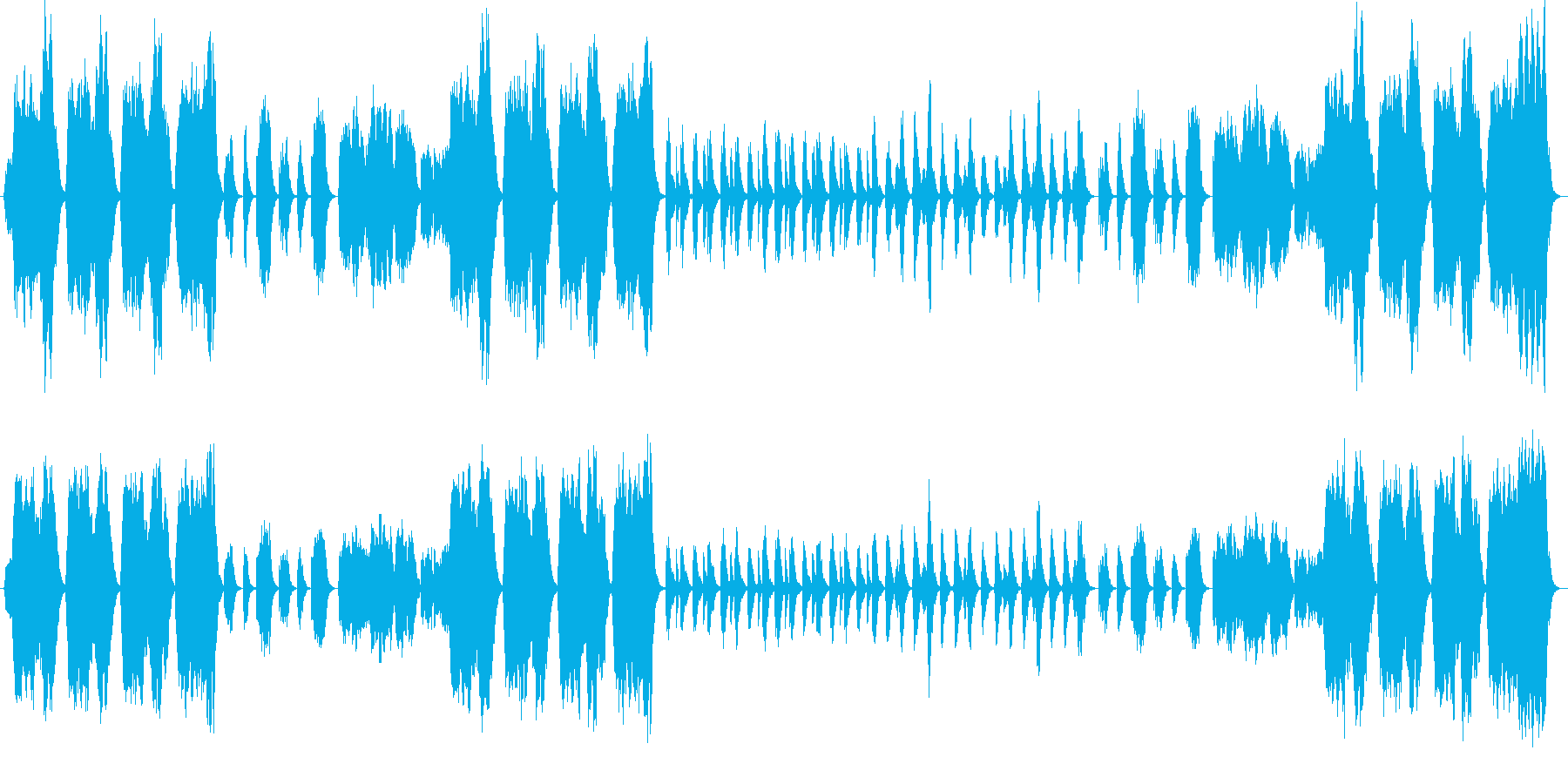 クラシカルで美しいバラードの再生済みの波形