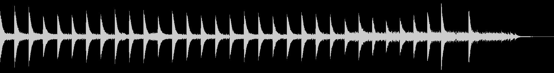 美しいピアノソロ 映画のサントラ風の未再生の波形