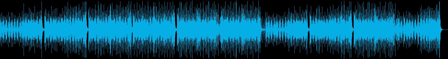 のんびり楽しいレゲエポップ:無メロディ弦の再生済みの波形
