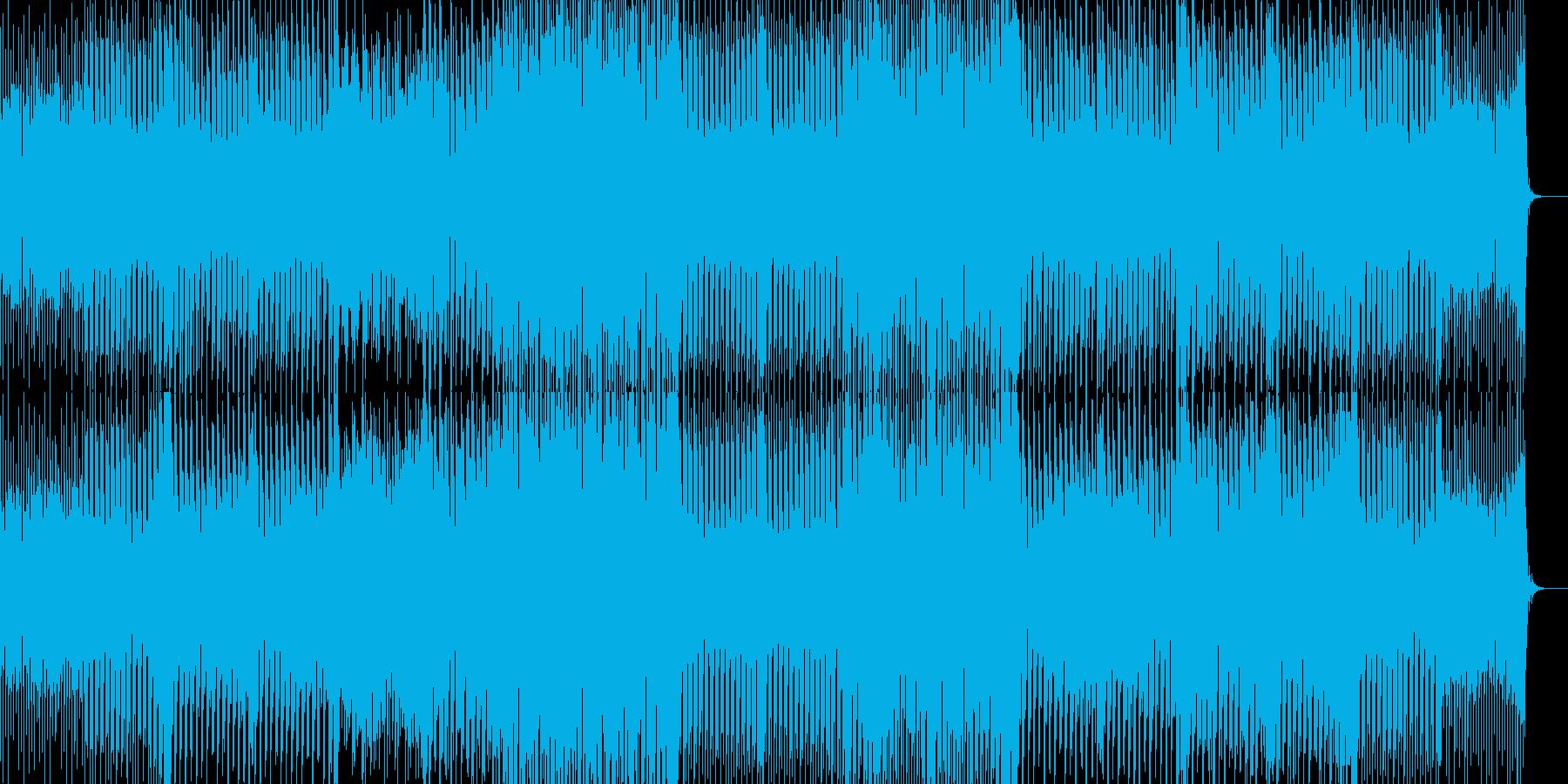 怪しげでカッコイイ、テクノの再生済みの波形