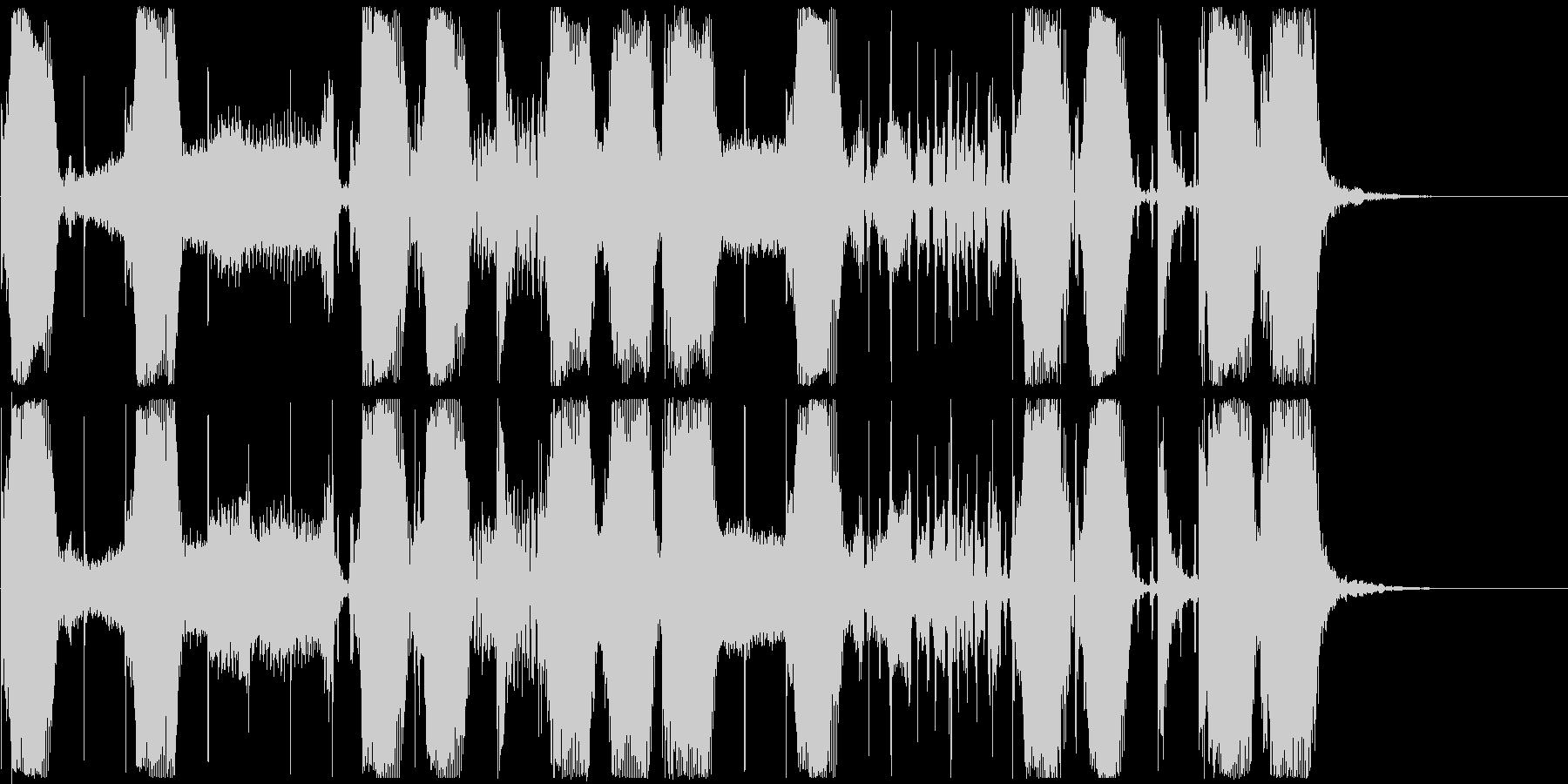 【ジングル】エレクトロなウネウネベースの未再生の波形
