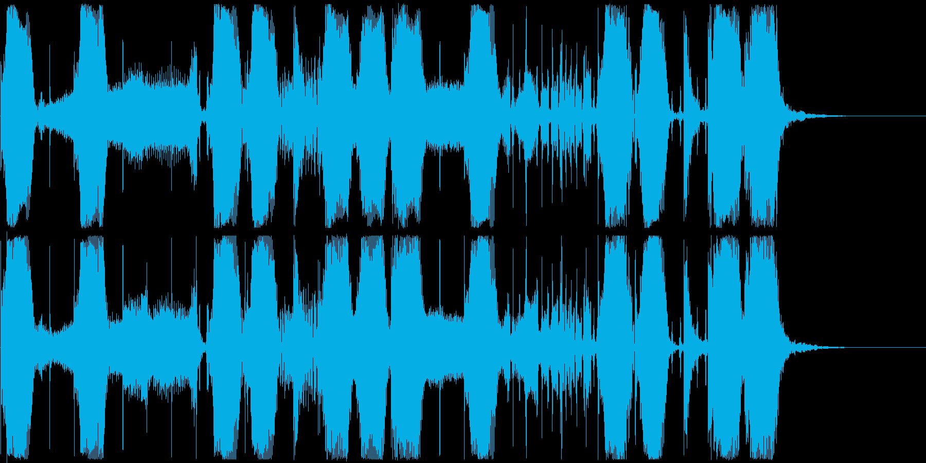 【ジングル】エレクトロなウネウネベースの再生済みの波形