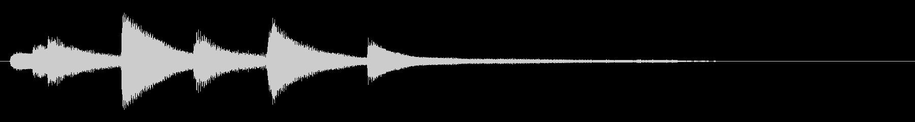 和風ピアノサウンドロゴ_ジングル4秒の未再生の波形